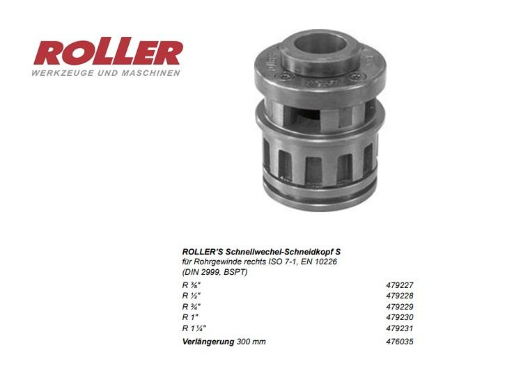 ROLLER Snelwisselsnijkop S R 3/8