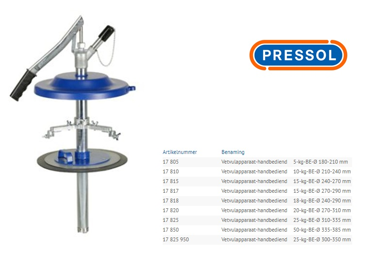 PRESSOL Vetvulapparaat 5kg/180-210mm