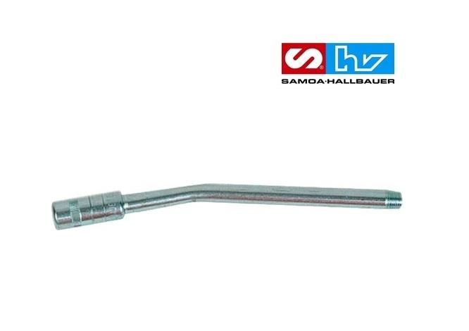 Sproeibuis-gebogen-M 10 x 1 bu 150 mm-hydraulisch mondstuk