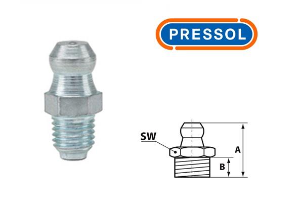Kegelsmeernippel H1-recht M 6 x 0,75-VZ-SK-SW 7