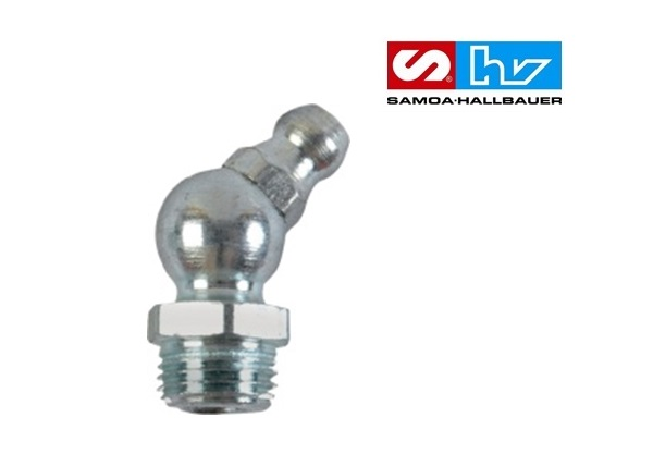 Kegelsmeernippel H2 M6 x 1 45 graden 6-kant DIN71412 à 100 st