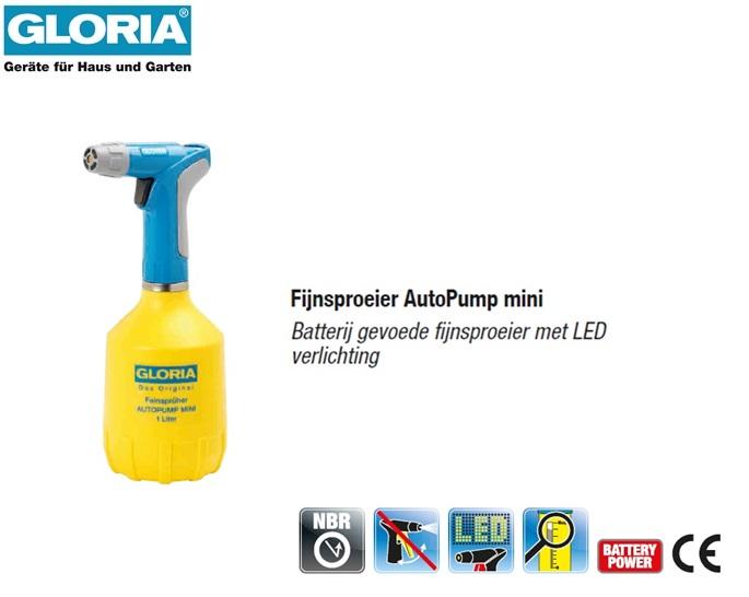 Fijnsproeier Gloria AutoPump mini - 1 liter