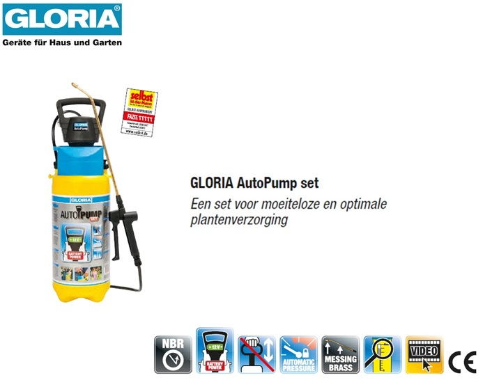 Drukspuit Gloria AutoPump Easy Spray - 5 liter
