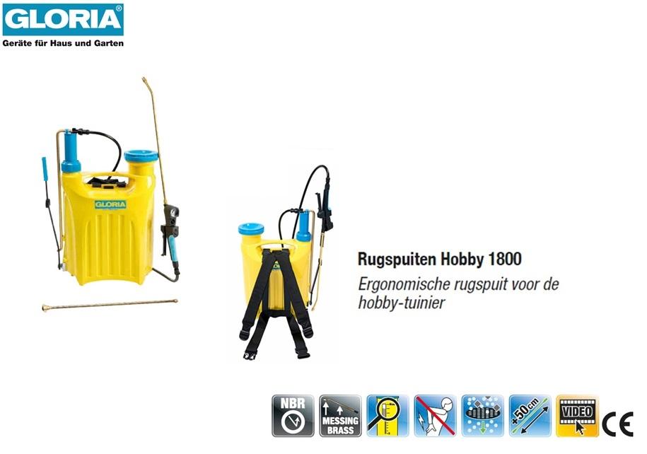 Rugspuit Gloria Kunststof Hobby 1800 - 18 liter