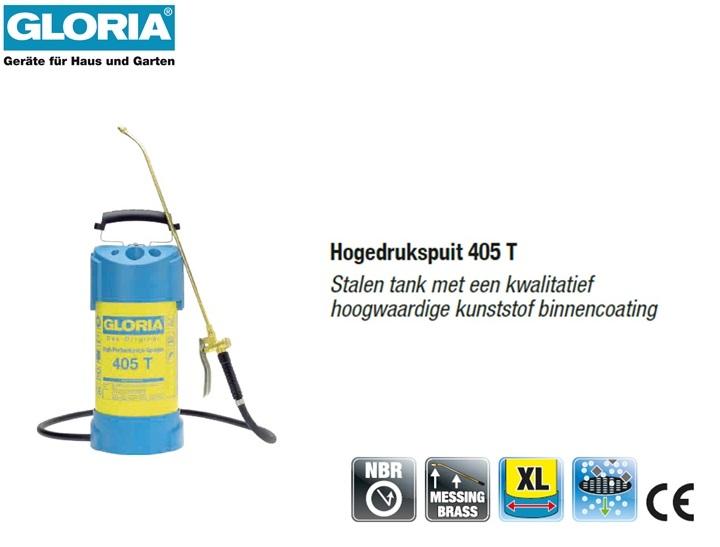 Hogedrukspuit Staal 6 bar Gloria 405T - 5 liter