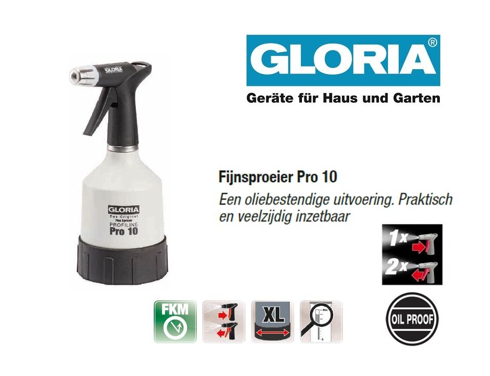 Fijnsproeier Oliebestendig Gloria Pro 10 - 1 liter