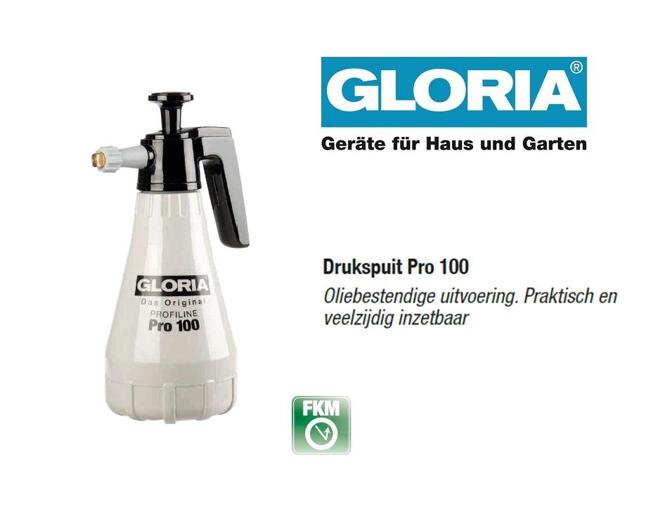 Oliebestendige drukspuit Gloria Pro 100 - 1 liter