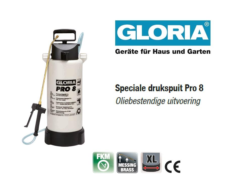 Oliebestendige drukspuit Gloria Pro 8 - 8 liter