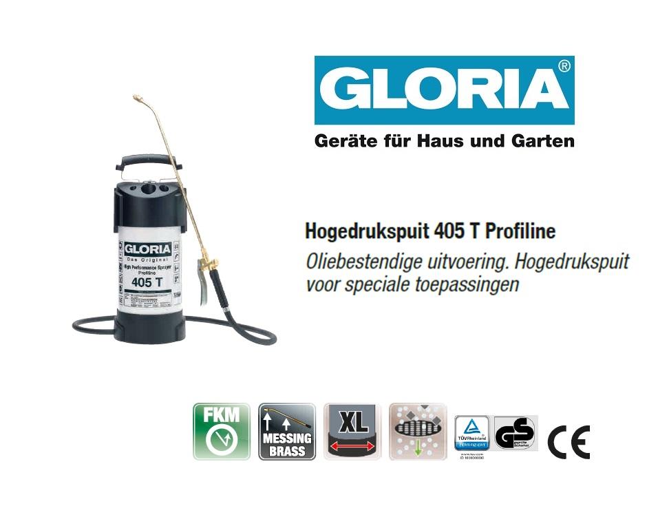 Hogedrukspuit Staal Gloria 405T Profiline - 5 liter