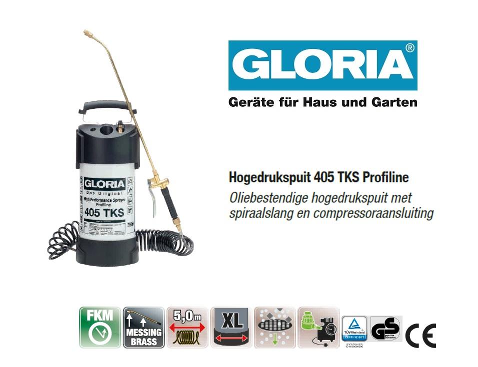 Hogedrukspuit Staal Gloria 405TKS Profiline - 5 liter