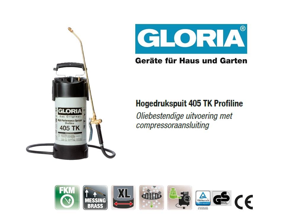 Hogedrukspuit Staal Gloria 405TK Profiline - 5 liter