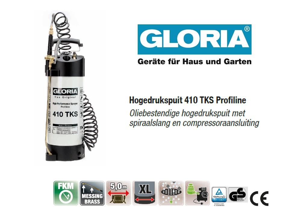 Hogedrukspuit Staal Gloria 410TKS Profiline - 10 liter