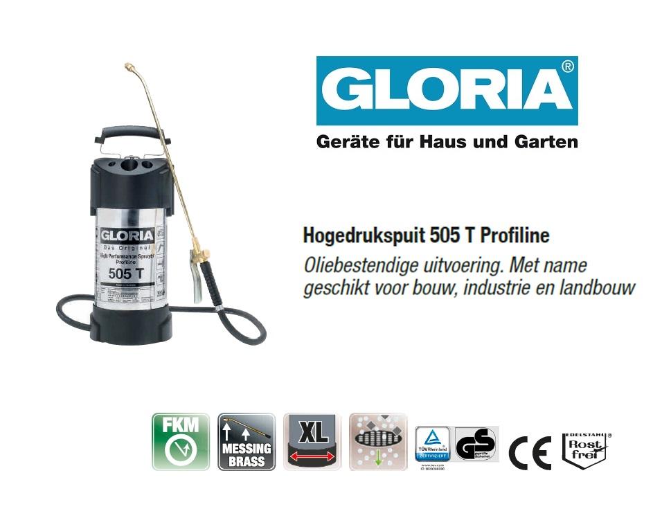Hogedrukspuit RVS Gloria 505T Profiline - 5 liter