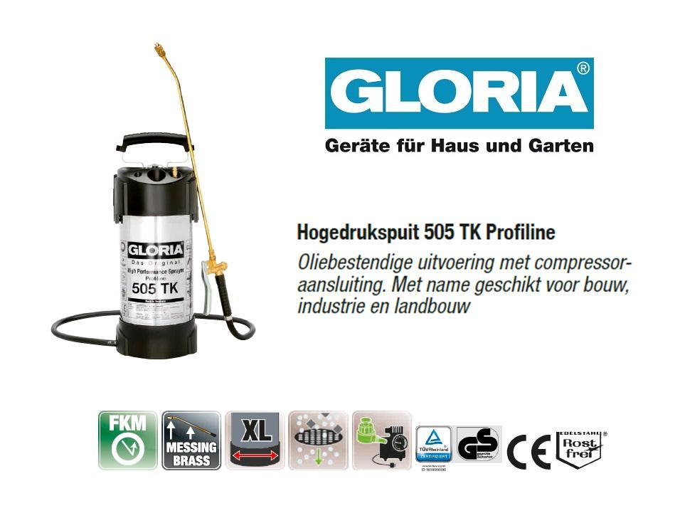 Hogedrukspuit RVS Gloria 505TK Profiline - 5 liter