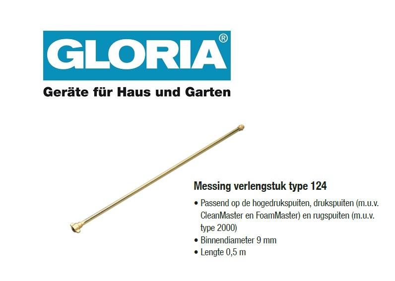 Verlengstok messing 50 cm (type 124)