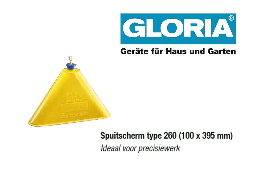 Spuitscherm tbv Gloria drukspuiten (type 260)