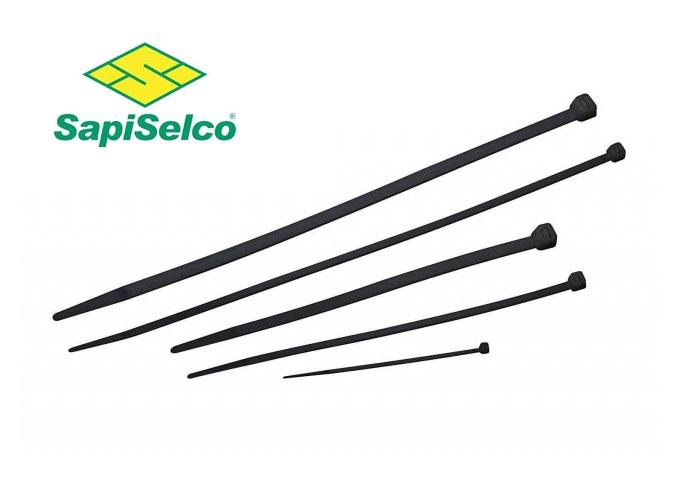 Kabelbinders, 7,5x750mm zwart Sapi Selco