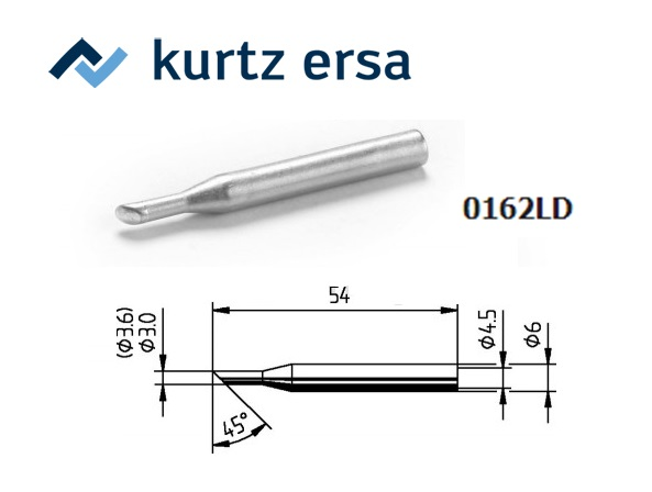 Ersa 162LD Soldeerpunt Afgeschuind 3,6 mm, ERSA 0162LD