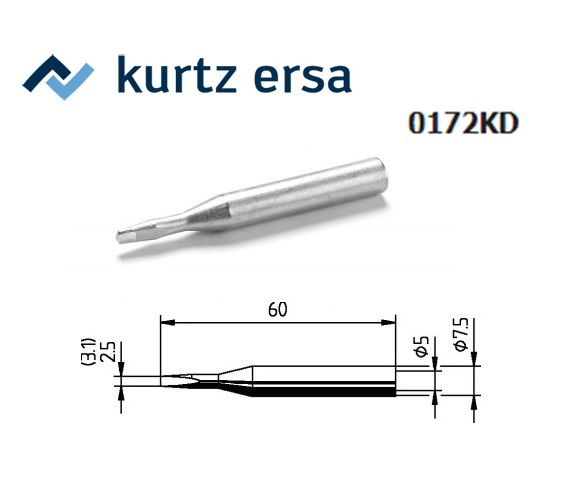 Ersa 172 KD Soldeerpunt Beitelvorm 3.1mm, ERSA 0172KD