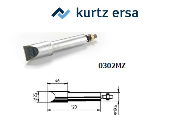 Reservesoldeerpunt 25mm, vernikkeld 300 watt hoek 60gr Ersa 0302MZ/SB
