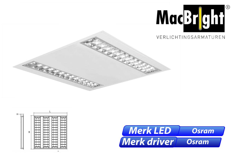 LED 906 2xLED 33W 3400lm 830 600x600 wit