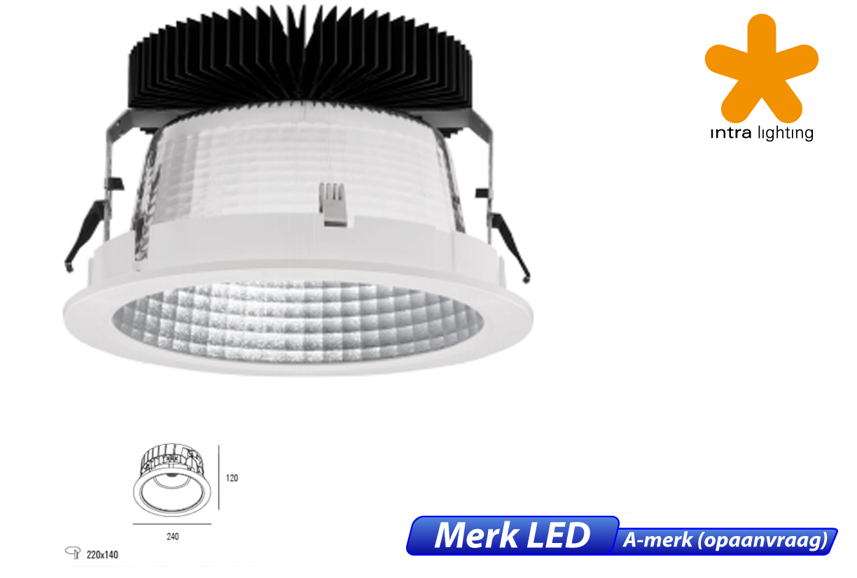 Nitor LED 8W 870lm 830 IP20 wit