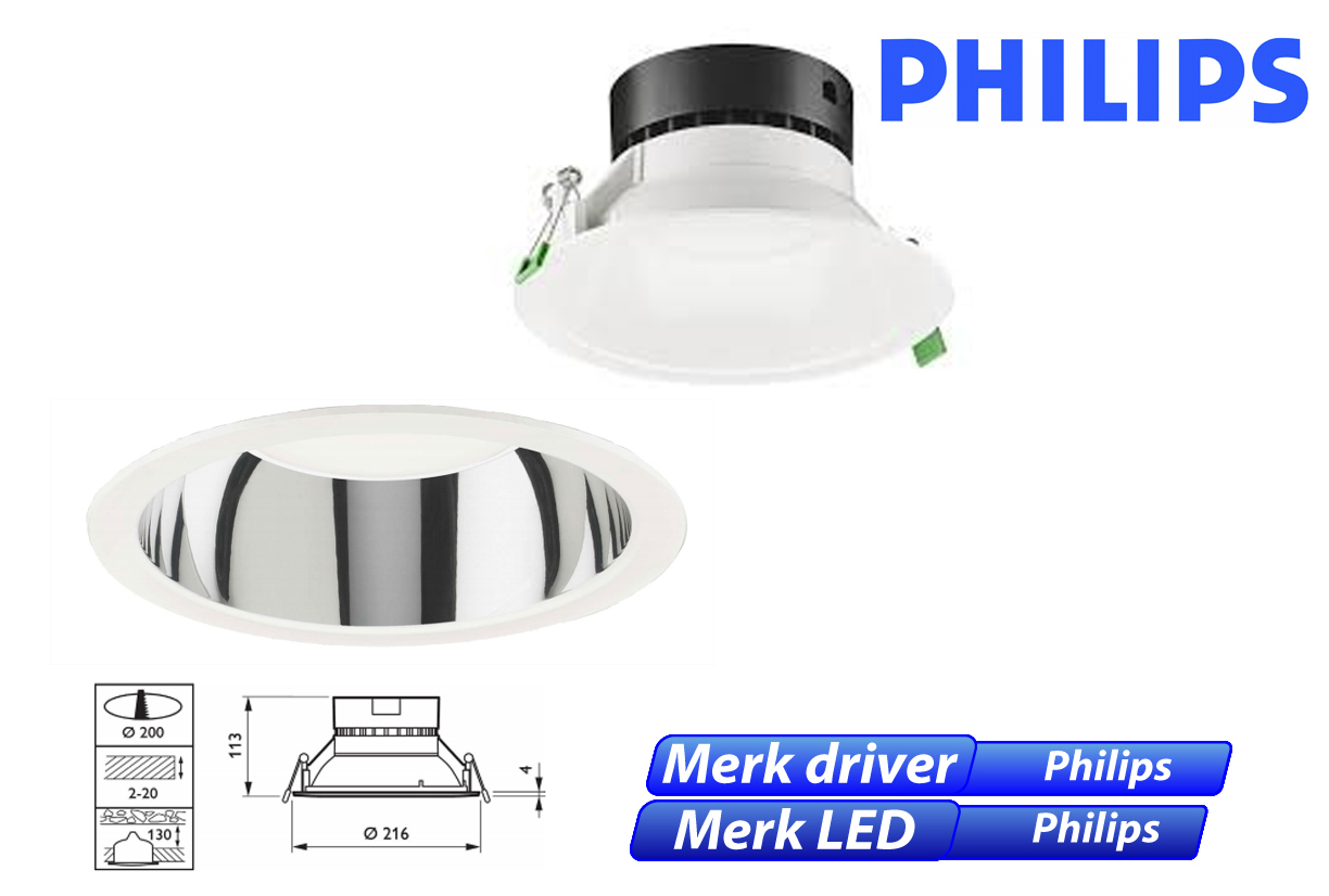 Philips DN131B LED 11W 1000lm 830 alu