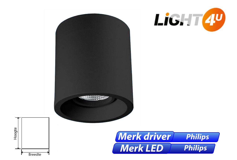 Skadi LED 8W 1100lm 830 zwart