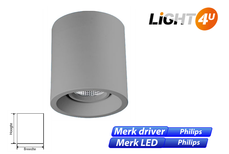 Skadi LED 8W 1100lm 830 grijs