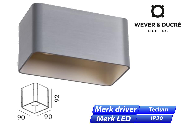 Docus 2.0 LED 16W 960lm 830 aluminium geschuurd