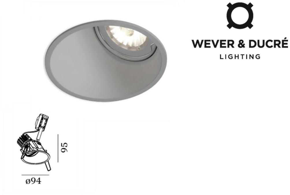 Deep LED asymmetrisch 10W 590lm 927 IP20 zilver