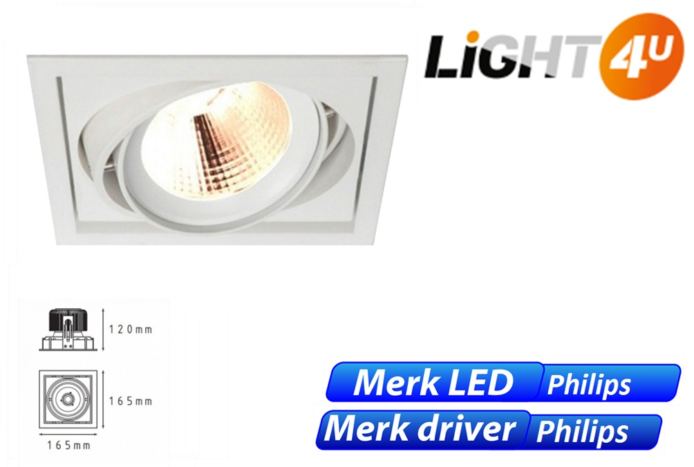 Click LED one 8W 1100lm 830 24D wit