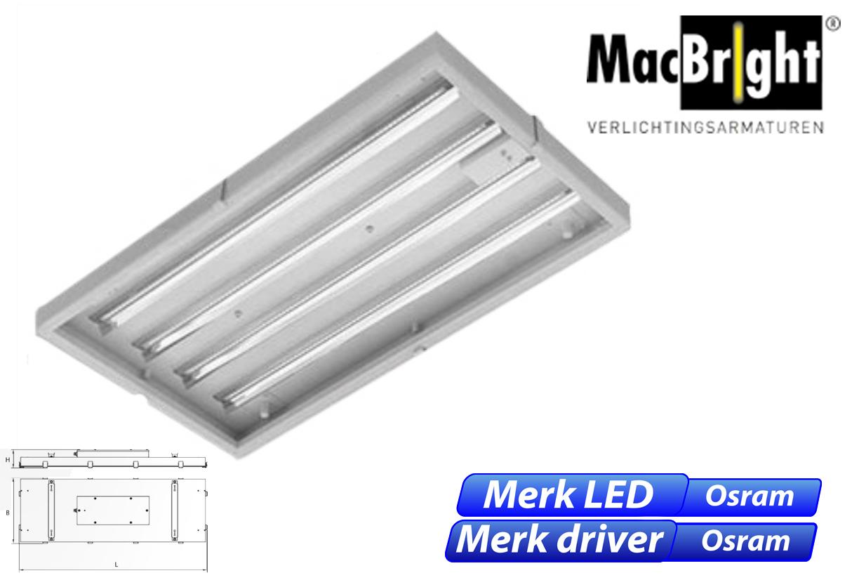 Mega LED 106W 13.500lm 840 IK08 25D 650x350 wit