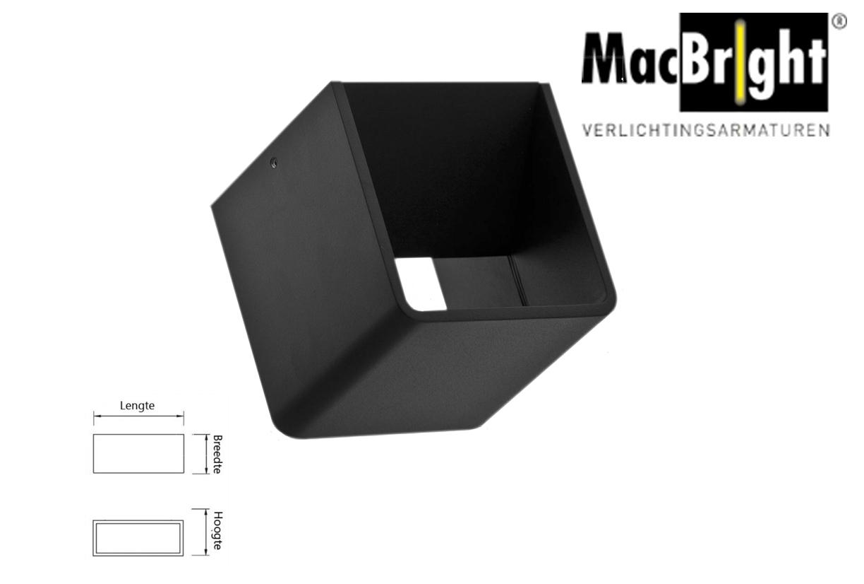 Boxx LED small 6W 500lm 827 zwart