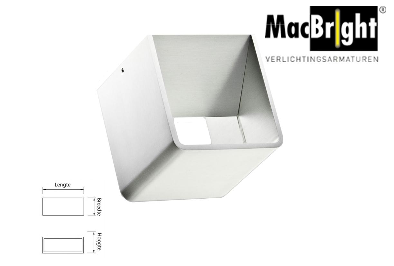 Boxx LED small 6W 500lm 827 aluminium