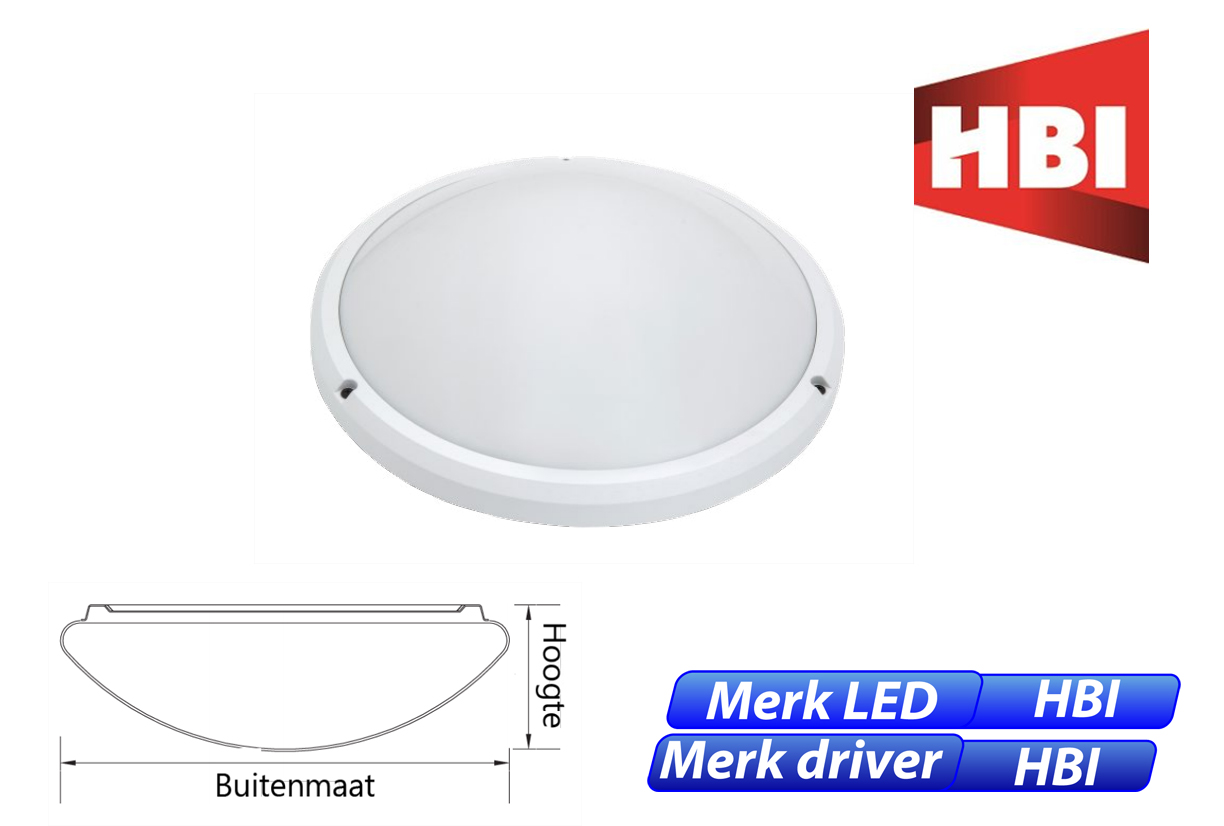 Circus LED 15W 1000lm 840 IK10 wit