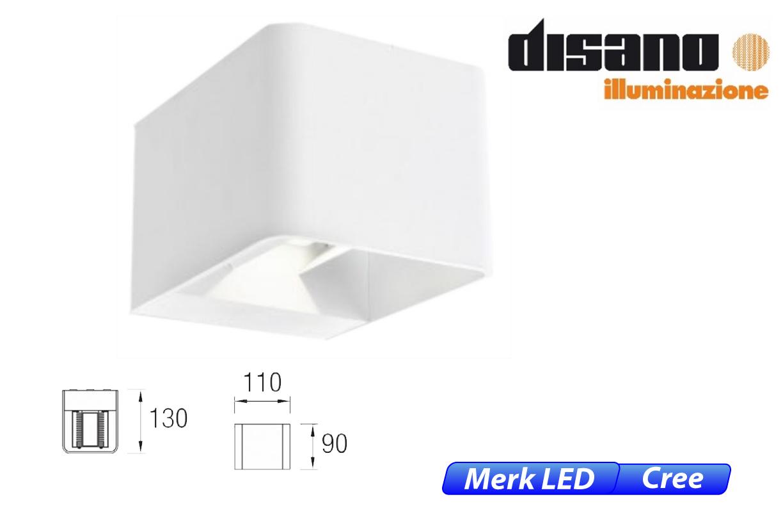 Wilson LED up-& downlighter 9W 855lm 830 IK08 wit