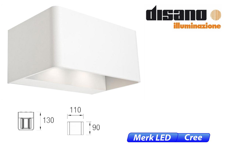 Wilson LED up-& downlighter 18W 1710lm 830 IK08 wit