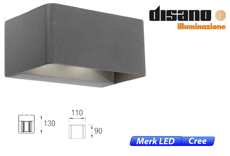 Wilson LED up-& downlighter 18W 1710lm 830 IK08 donker grijs