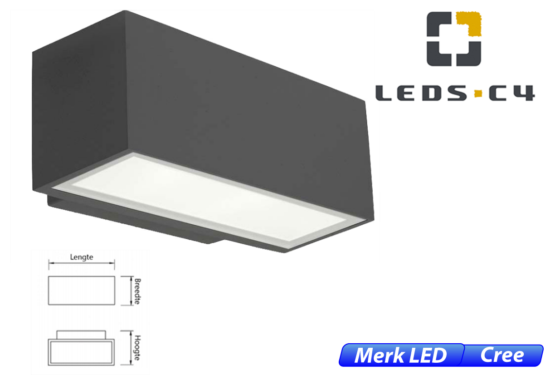 Afrodita LED downlighter 11,5W 1219lm 830 IK04 donker grijs