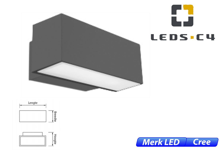 Afrodita LED downlighter 19W 1296lm 830 IK04 donker grijs