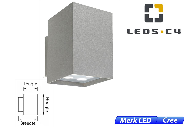 Afrodita LED up-& downlighter 17,4W 1296lm 830 IK04 licht grijs
