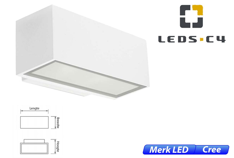Afrodita LED up-& downlighter 17,5W 1908lm 830 IK04 wit