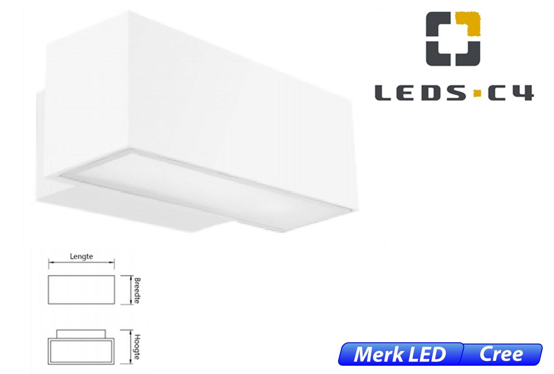 Afrodita LED up-& downlighter 39W 4198lm 830 IK04 wit