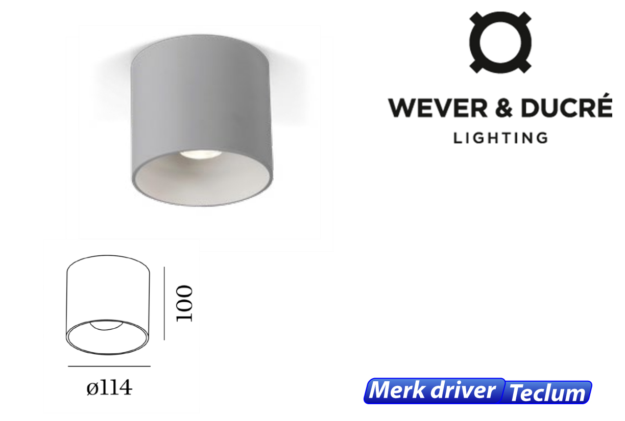 Ray LED 8W 480lm 830 donker grijs