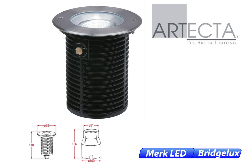 Reno LED kantelbaar rond 7W 550lm 830 IK09 RVS