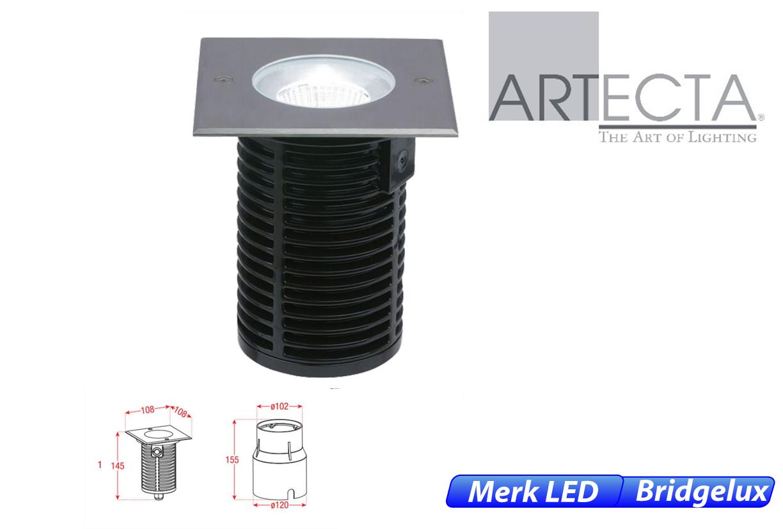 Ocala LED vast vierkant 10W 730lm 830 IK09 RVS