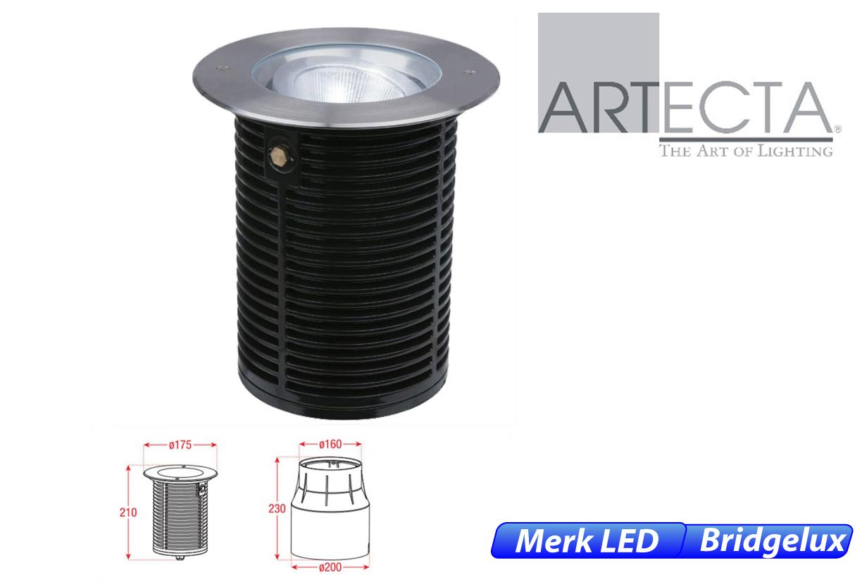 Ocala LED kantelbaar rond 11W 920lm 830 IK09 RVS