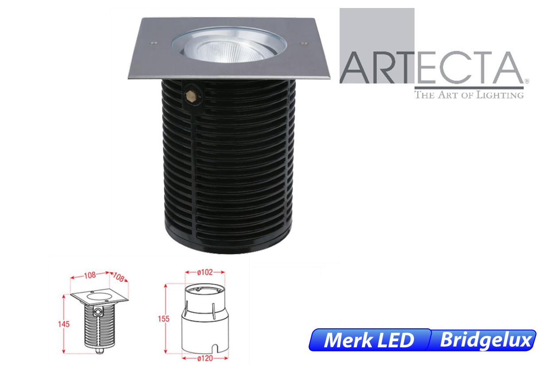 Ocala LED kantelbaar vierkant 11W 920lm 830 IK09 RVS