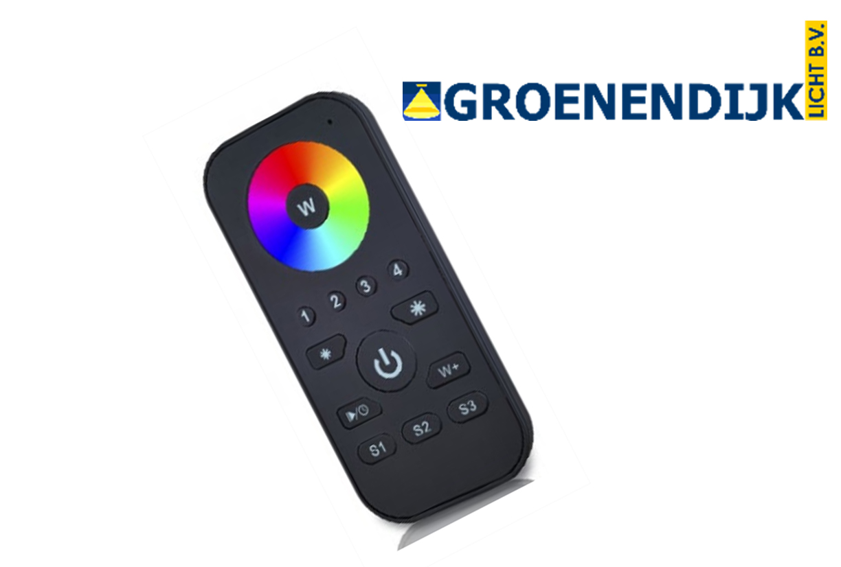RF touch RGBW remote 3 scenes / 1 zone